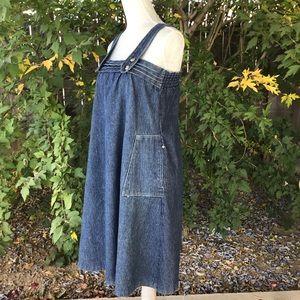 Vintage 70's Denim Corduroy Jumper Dress 4/6